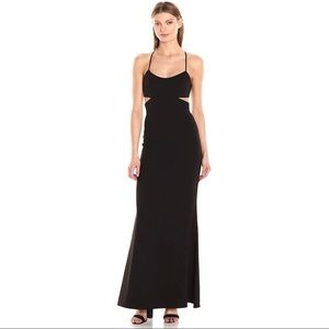 Jill by Jill Stuart Black Cutout Formal Gown, 12